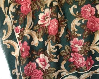 Vintage Scarf, Rose Scarf,  Fall Scarf, Vintage Roses
