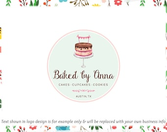 Cake Premade Logo Design - Web + Print Files + Watermarks - Limited  Edition! Perfect