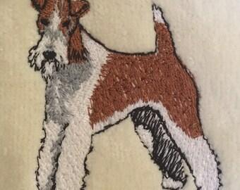 Wire Fox Terrier Fingertip Towel, Custom