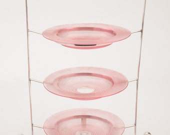 Silver Plated 3 Tier Cake Stand, Circa 1910
