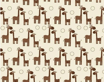 Giraffe Crossing - Giraffe Giraffe Cream- Fat Quarter Cut - Riley Blake Designs - Cotton Fabric
