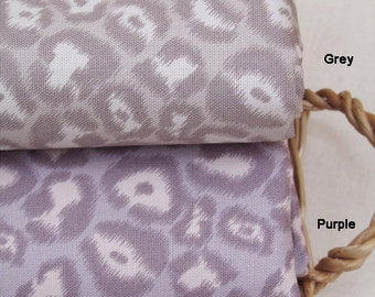 Oxford Cotton Fabric Leopard in 2 Colors By The Yard