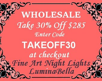WHOLESALE COUPON - 30% LuminaBella Stained Glass Fine Art Quantity Savings