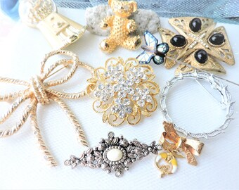 RESERVED for Ruban Jewelry Lot,Brooch Lot,Costume Jewelry Lot B2
