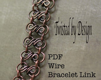 Bracelet Tutorial, PDF-Jewelry lesson, wire links tutorial, Jewelry Tutorial, Tutorial Bracelet , Findings Tutorial, Beginner Tutorial