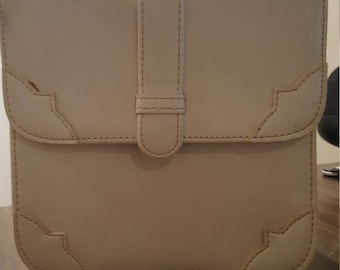 Reduced Price--1960's White Vintage Small Purse