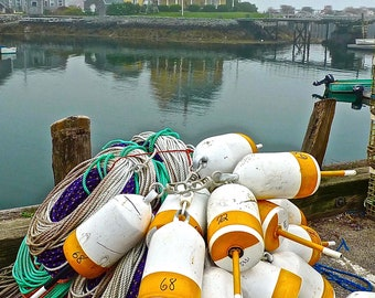 Lobster Pots in Maine (photo)