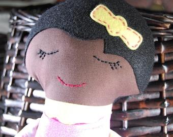 Handmade doll, cloth doll, Darling Classic Doll, girl doll, dark skin doll