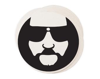 Big Lebowski Coasters - Letterpress Men Gift Him Dude