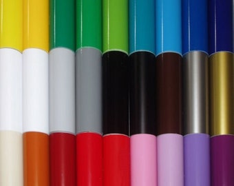 30 Sheets Assorted Glossy Colors of Permanent Adhesive Backed Vinyl For Cutters and Punches, Adhesive Vinyl, Vinyl, Wholesale Vinyll Sheets