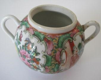 Vintage Rose Medallion Sugar Bowl