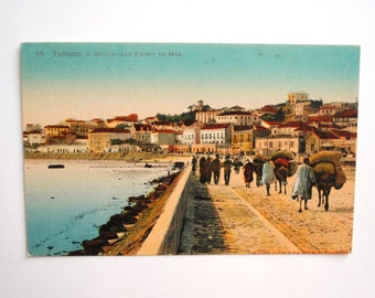 Rare Tangier Morocco - postcard - antique french 1926 written Africa