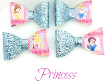 Princess Hair Bows, Headband, Belle, Cinderella, Aurora, Sleeping Beauty, Snow White,