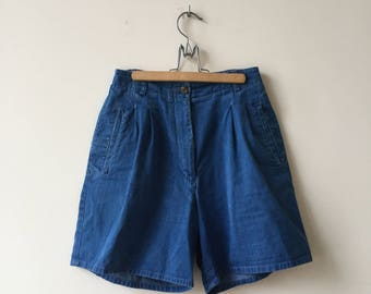 vintage high waisted shorts | high waisted jean shorts | high waisted denim shorts | festival shorts | 80's | 90's | long shorts | cotton