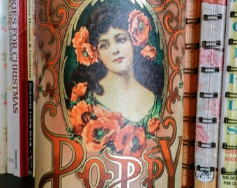 Poppy Talcum Powder Tin by Daher, Made in England, Housewares, Home Decor, Tinware  Collectible Tins