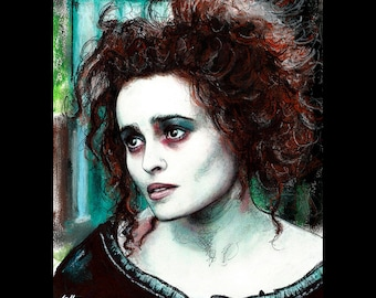 "Print 8x10"" - Mrs. Lovett - Sweeney Todd Tim Burton Johnny Depp Helena Bonham Carter Pop Art Halloween Horror Demon Barber London Pop"