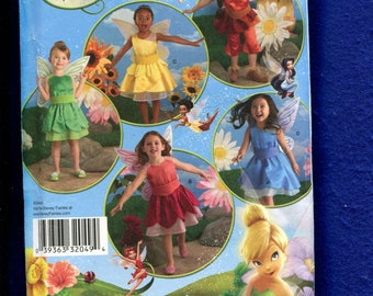 Simplicity 2872 Tinker Bell Fairy Costumes Pattern for Girls Size 3 to 8 UNCUT