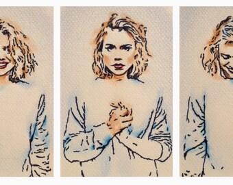ORIGINAL ARTWORK - 'Billie' - Pencil & Ink Drawing x 3 - Kirrily Duff