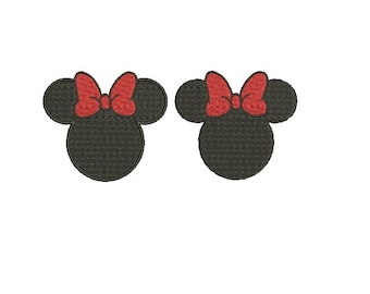 27 Sizes Walt Disney Minnie Mouse Head Ears Girl Bow Design Fill Embroidery Machine Instant Download EN4046F1