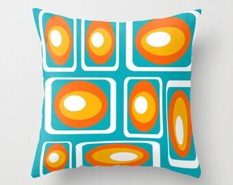 Pillow, Mid Century Modern, Throw Pillow, Home Decor, Geometric, Living Room Decor, Mid Century, Retro, Decorative Pillows