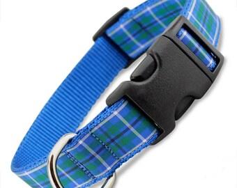 Plaid Dog Collar, Blue Douglas Tartan