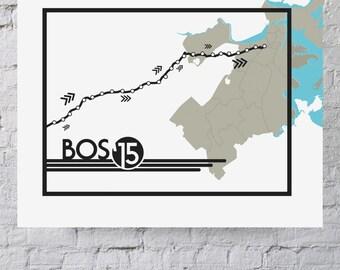2015 Boston Marathon Digital Print