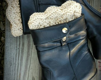 Scallop Boot Toppers (cuffs) pattern