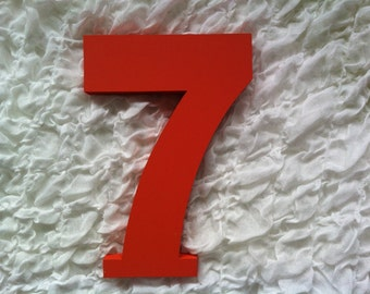 Decorative Freestanding Wedding Table Numbers - Ariel Font - 28cm high - Number 7