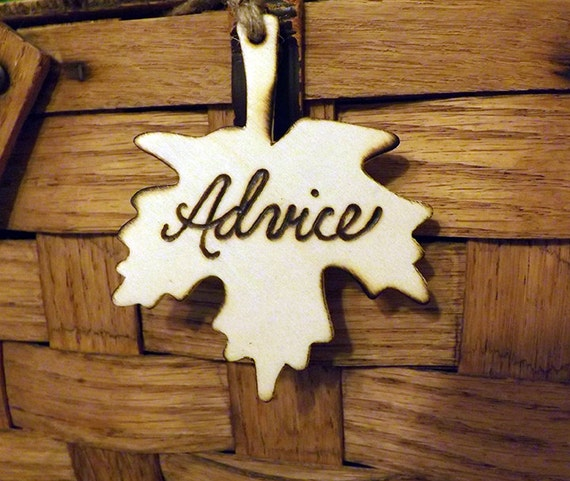 Advice tag, Rustic Wooden fall advice tag, rustic wedding tag, fall shower decor, wedding advice, advice for bride sign, shower advice sign
