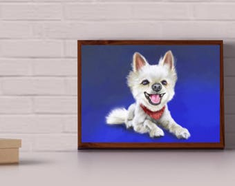 Custom Pet Portrait or caricature - Dog's, cat's, chicken's - all animals welcome!