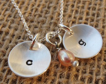 Monogram necklace - Mom necklace - Personalized necklace - Mom's Monograms - Initial necklace
