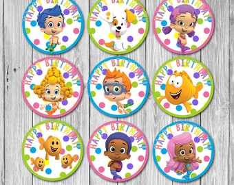 Bubble Guppies Cupcake Toppers (Digital)