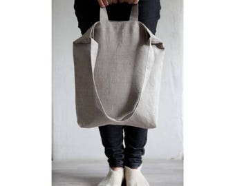 Market tote bag, produce bag, linen shopping bags, linen zero waste bag, linen tote, grocery bag, market bag, zero waste