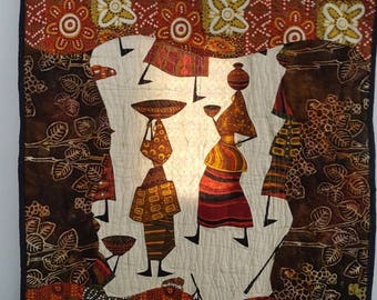 Quilted African Art Decorative wall hanging