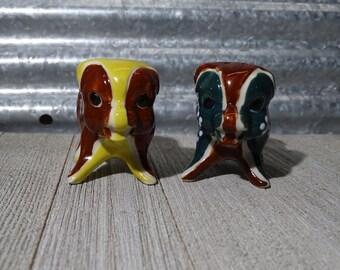Ceramic colorful pig salt and pepper shakers