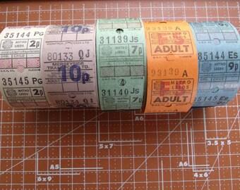 10 Vintage British Bus Tickets Set No 2