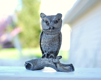 Pewter Owl on branch-Free shipping