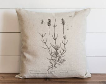 Botanical Lavender II 20 x 20 Pillow Cover // Everyday // Herbs // Gift // Accent Pillow