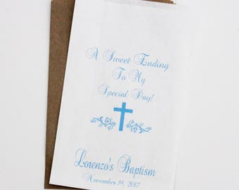 Candy Bags, Baptism Favor Bags, Candy Buffet Bags