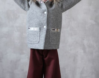Bunny coat, neoprene coat, cute, girls' clothing, girls' coat