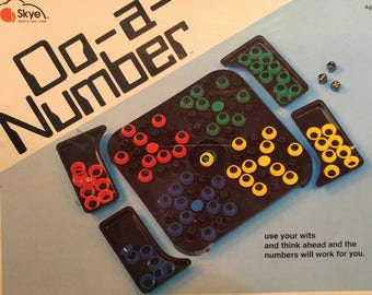 Do-A-Number Game Skye Marketing 1976, educational. mathematics, vintage, retro