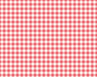 AdornIt Fabrics - Flamingo Fever Mini Gingham Watermelon 00650 - Quilt, Clothing, Crafts