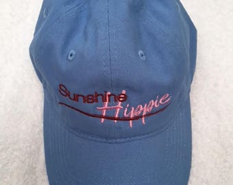 Blue and Pink Sunshine Hippie Hat