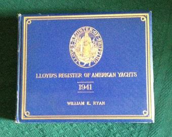 Vintage LLoyd's Register Of American Yachts 1942 Edition ( Rare )