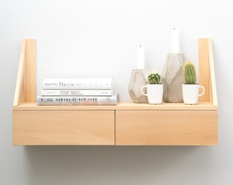 Floating Beech Shelf