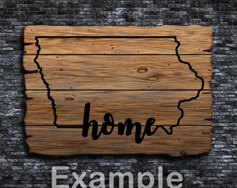 Iowa Home ai  eps  jpg  png  and svg Clipart, Vinyl, Stencil - Cricut - Silhouette Cameo