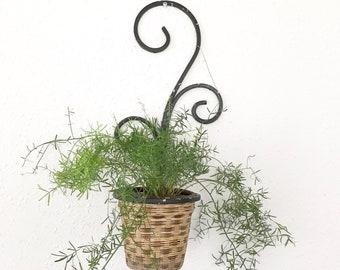 Vintage Iron Wall hanging Planter / Plant Hanger Bohemian Decor / Garden