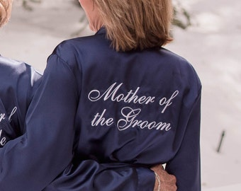 Mother of the Groom Robe, Mother of the Groom satin robe gift, Satin bridal party robe, Mother of the Groom gift idea, MOG satin robe gift