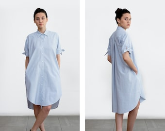 Maxi dress, Shirt dress, Oversized dress, long sleeve dress, minimalist clothing