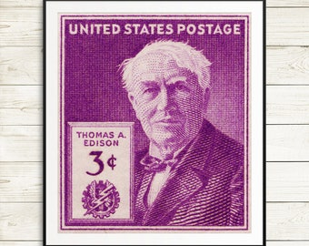 Thomas Edison, science and innovation posters, gifts for scientists, science classroom posters, science teacher gifts, science student dorm